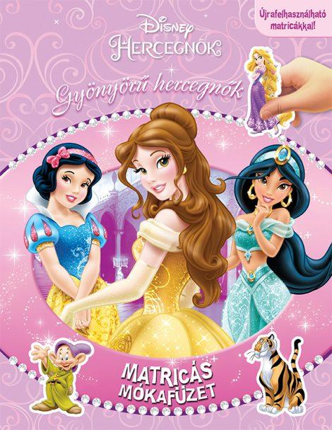 Könyv borító - Matricás mókafüzet: Gyönyörű hercegnők